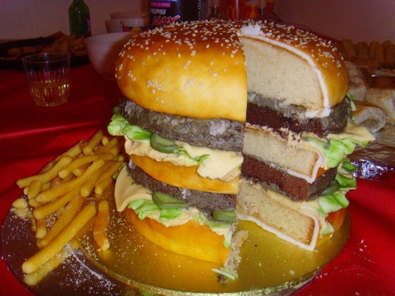 Big mac burger cake cakes pinterest burger cake big