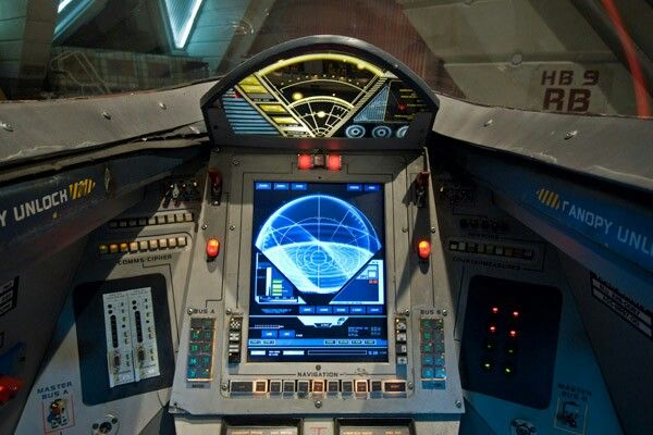 Cockpit Of A Viper Mk Ii Battlestar Galactica Battlestar Galactica 1978 Sci Fi Shows