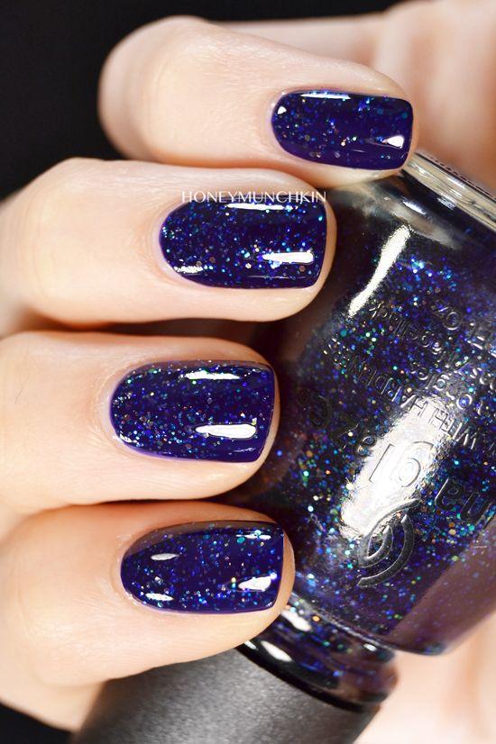 Swatch Of China Glaze Meteor Shower Blue Nail Art Designs Nail Polish Classy Nails