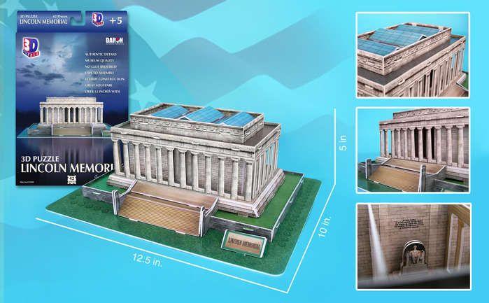 3D Puzzle - Lincoln Memorial Landmarks 3D Puzzle