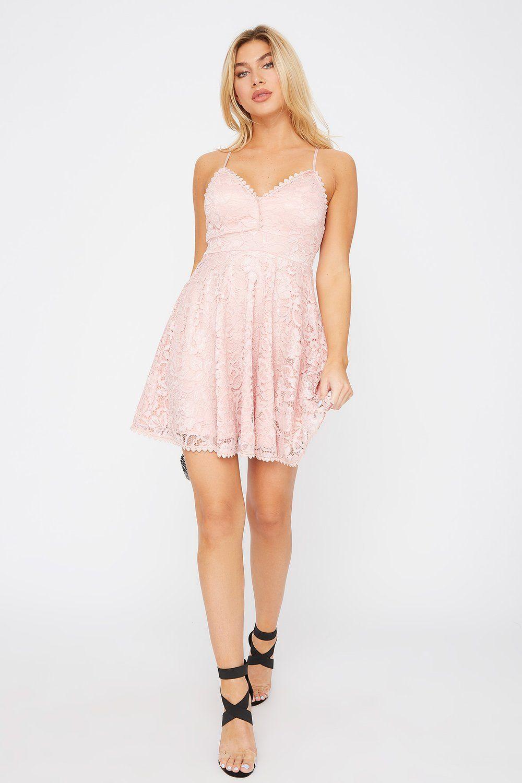 Lace Scallop Skater Dress Charlotte Russe Dresses Mini Night Dress Urban Dresses [ 1500 x 1000 Pixel ]