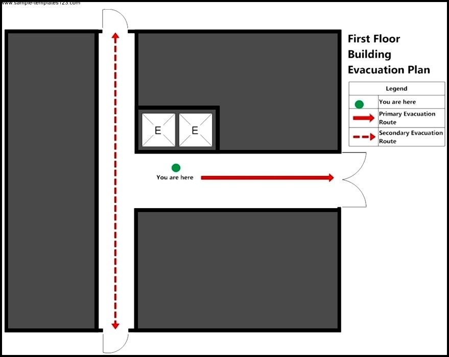 Building  First Floor Elevator Plan Template  Sample Templates