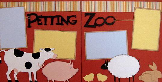Petting Zoo 2page 12x12 doityourself scrapbook by DownMemoryLane, $7.00