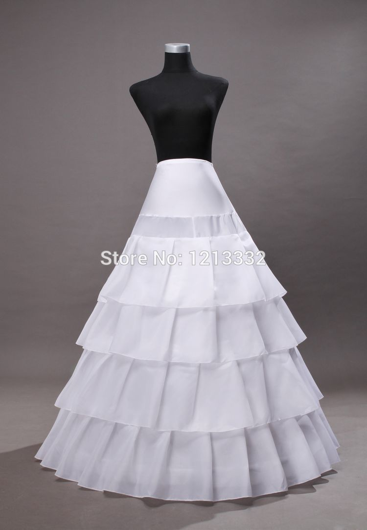 ce98a3527a8c High quality Hot sale White 4-hoop 5 layers Ball gown Wedding petticoat/ underskirt crinoline Bridal Accessories 1008