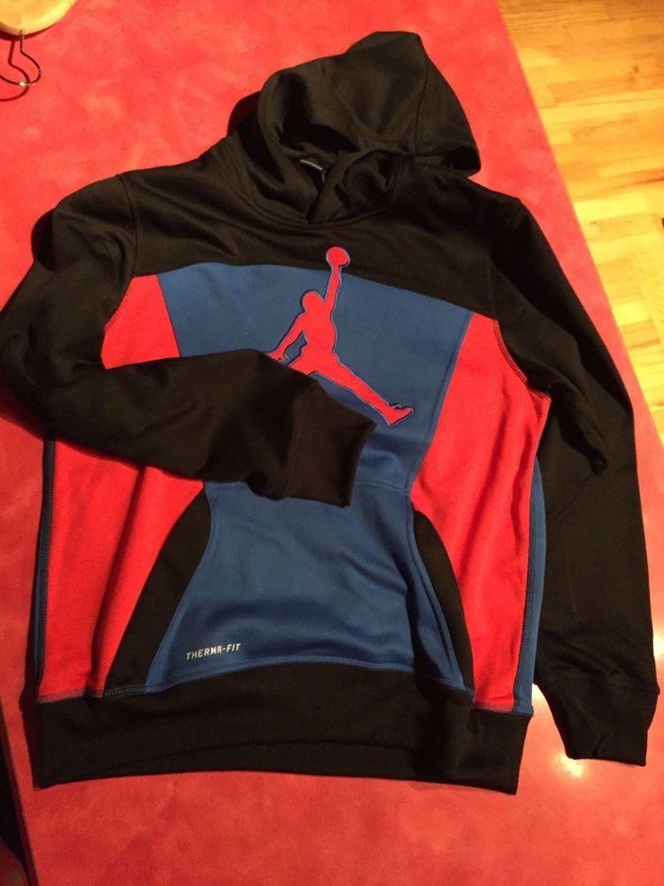 57688068a224d6 Nike Air Jordan Therma-Fit Pullover Hoodie Youth Boys XL NWOT ...