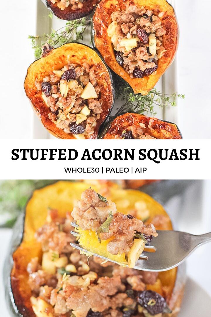 Stuffed Acorn Squash Recipe Acorn Squash Whole Food Recipes