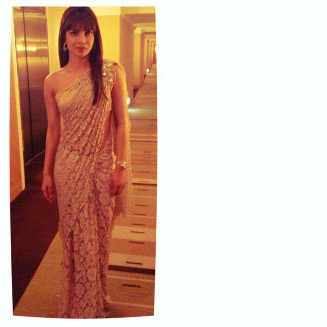 Ami patel on lace saree chantilly lace and priyanka chopra ami patel on lace sareenet aloadofball Choice Image