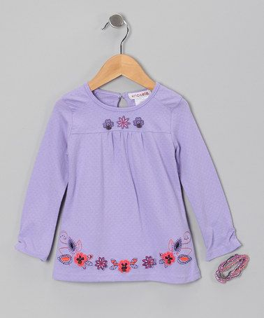 Take a look at this Lilac Flower Tee & Bracelet - Toddler & Girls by Krickets World on #zulily today!