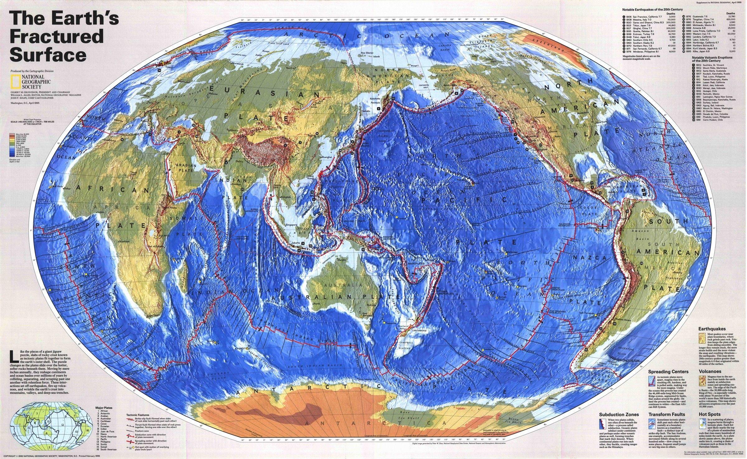 Image result for დედამიწის ტექტონიკური რუკა