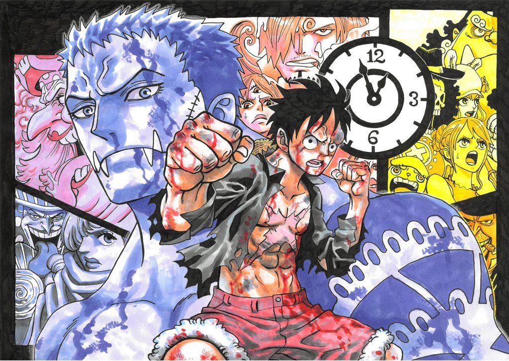 Luffy vs Katakuri by Jigmetenzin One piece anime, One