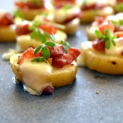 A last minute simple canape for st patricks day real irish food potato bacon bites looking for a last minute simple canape for st patricks day real irish food ingredients in gaelic with translation forumfinder Image collections