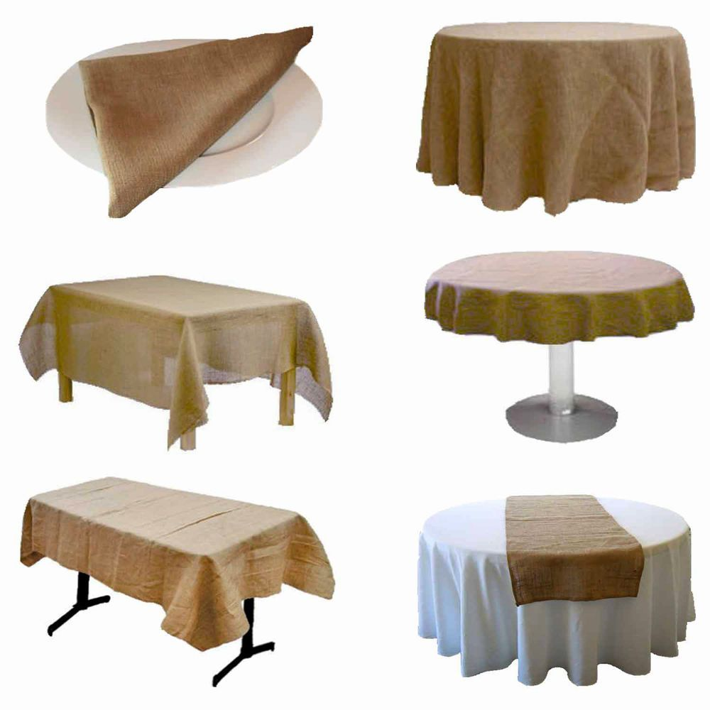 Beautiful Burlap Tablecloths (Variety Of Sizes And Shapes) By Florida Tablecloth  Factory