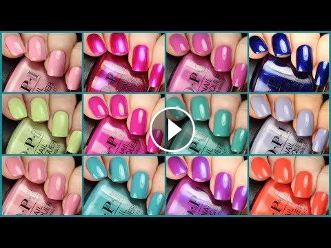opi tokyo spring/summer 2019 collection  live application