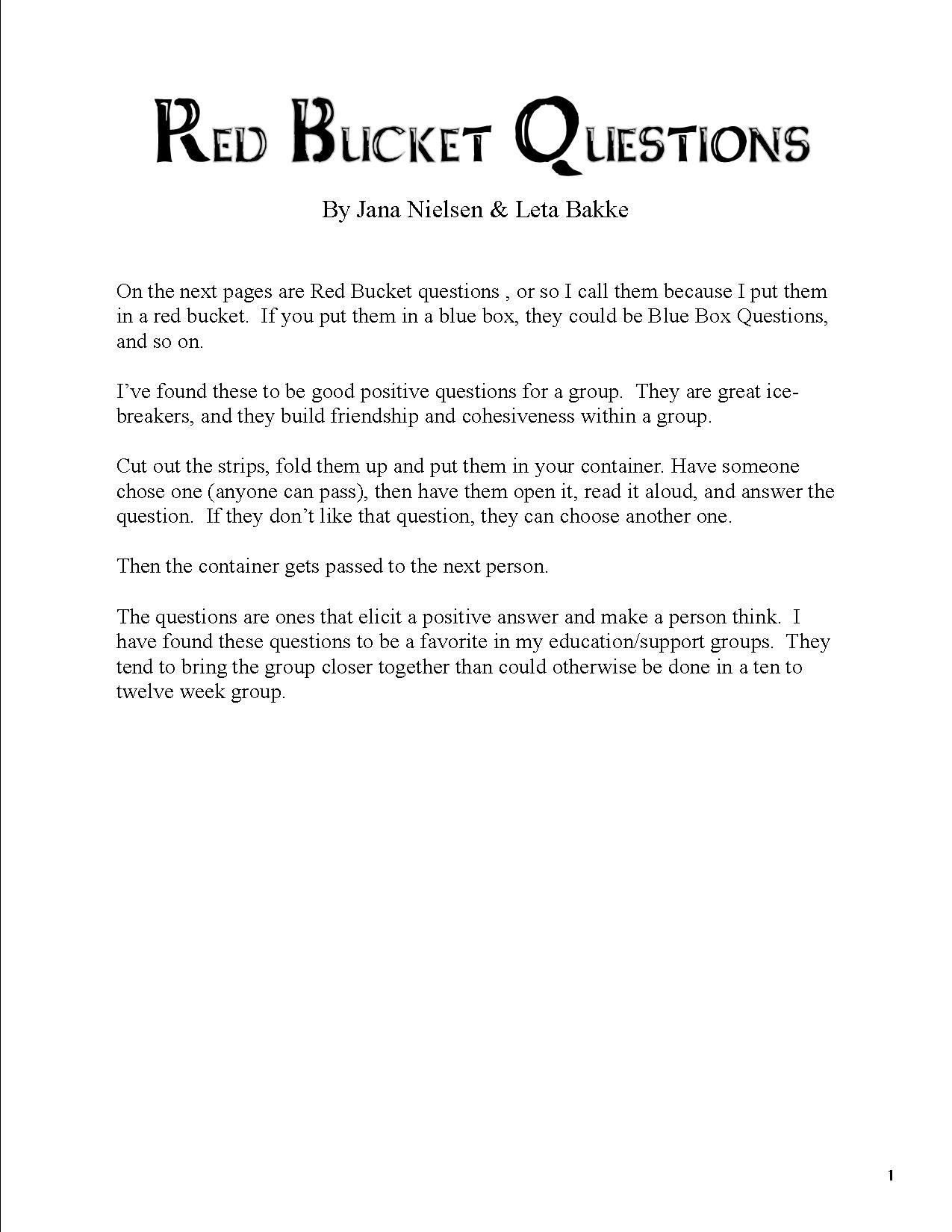 I Ve Found These To Be Good Questions For A Group There Are 4