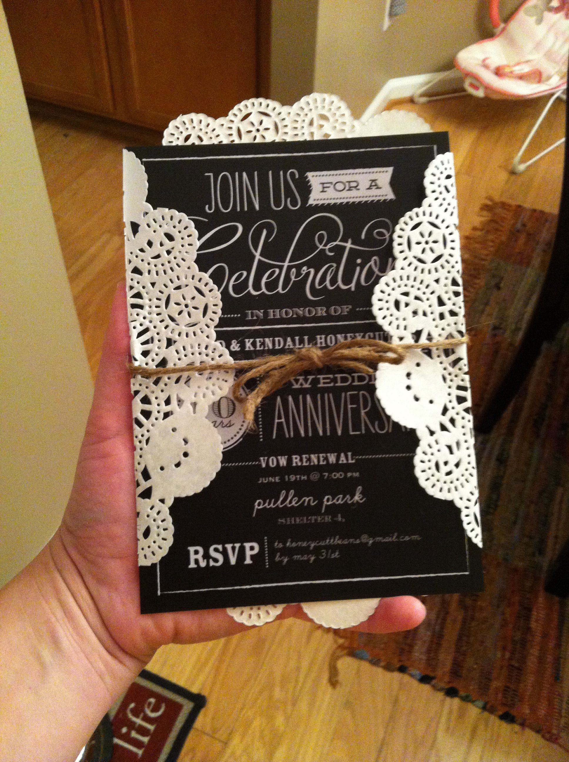 10 Year Wedding Renewal Invite from Shutterfly, used a 10