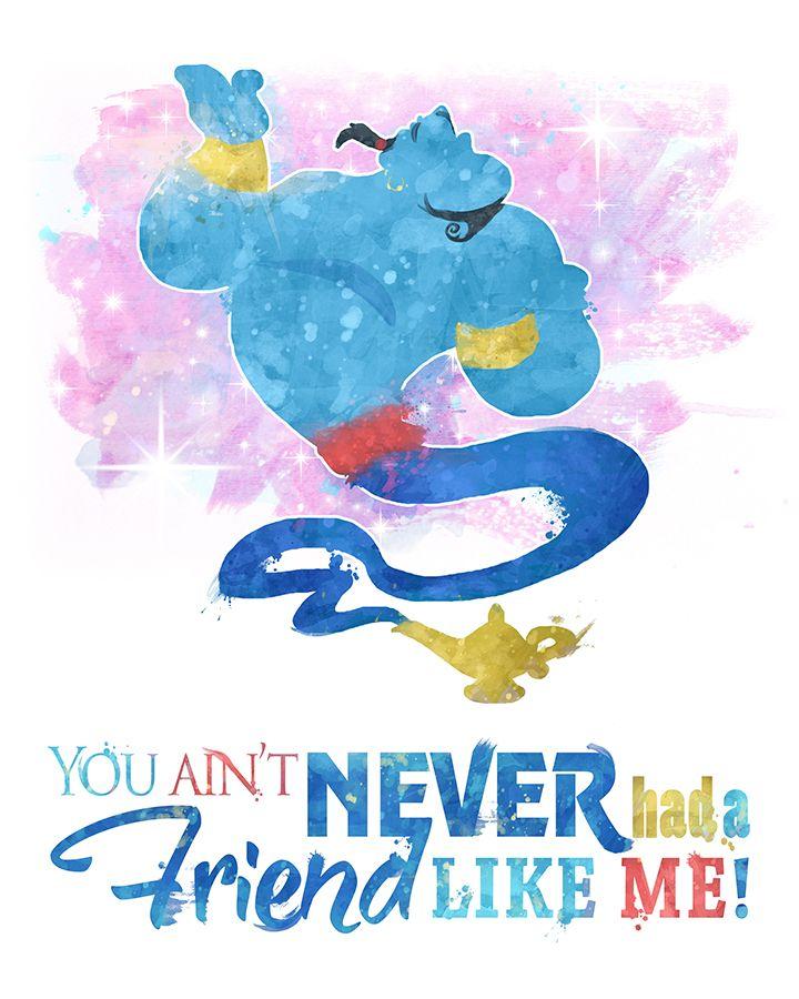Genie lyric friend like me | Disney quotes, Disney ...