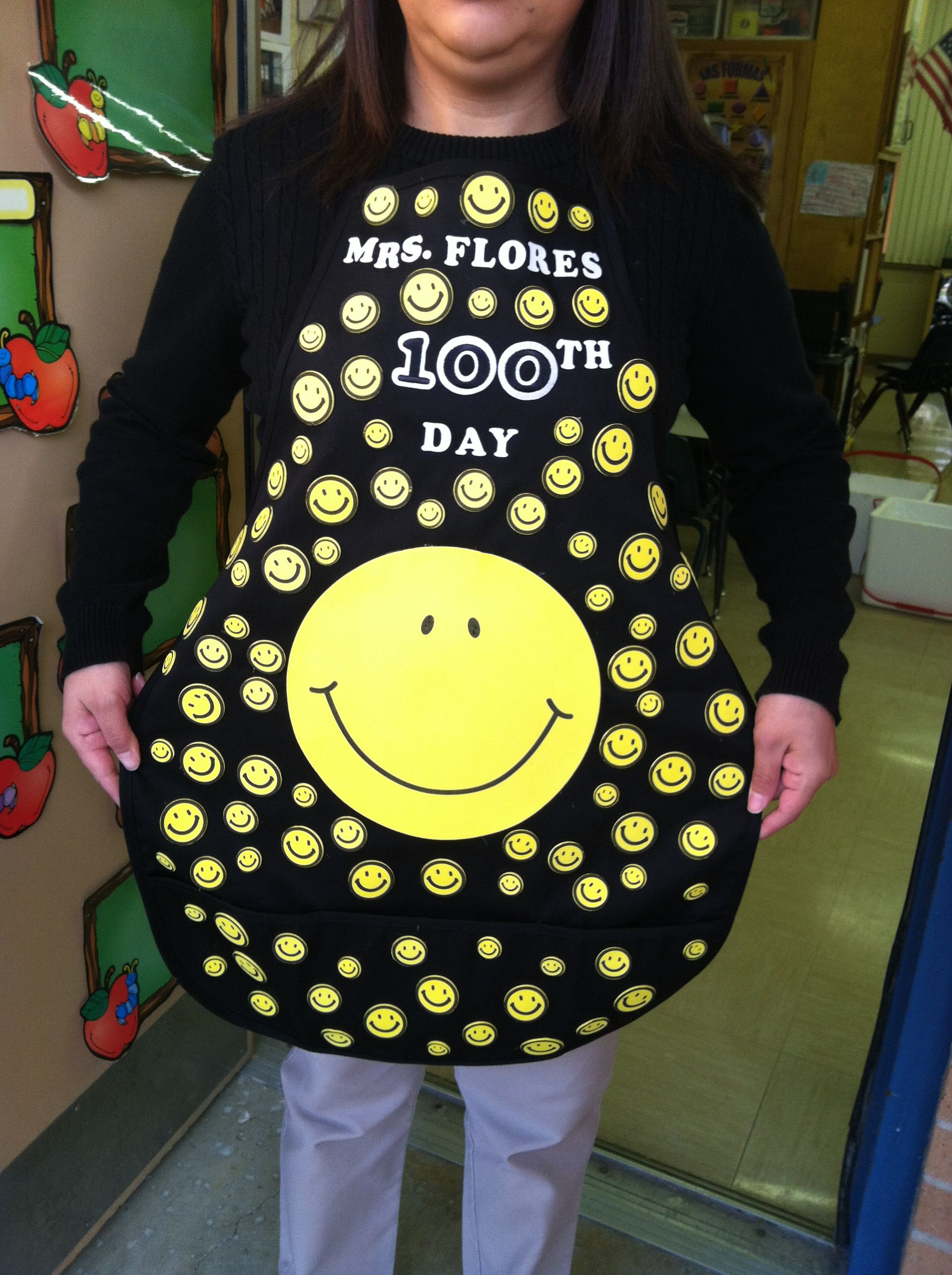 100 Day Apron With Images