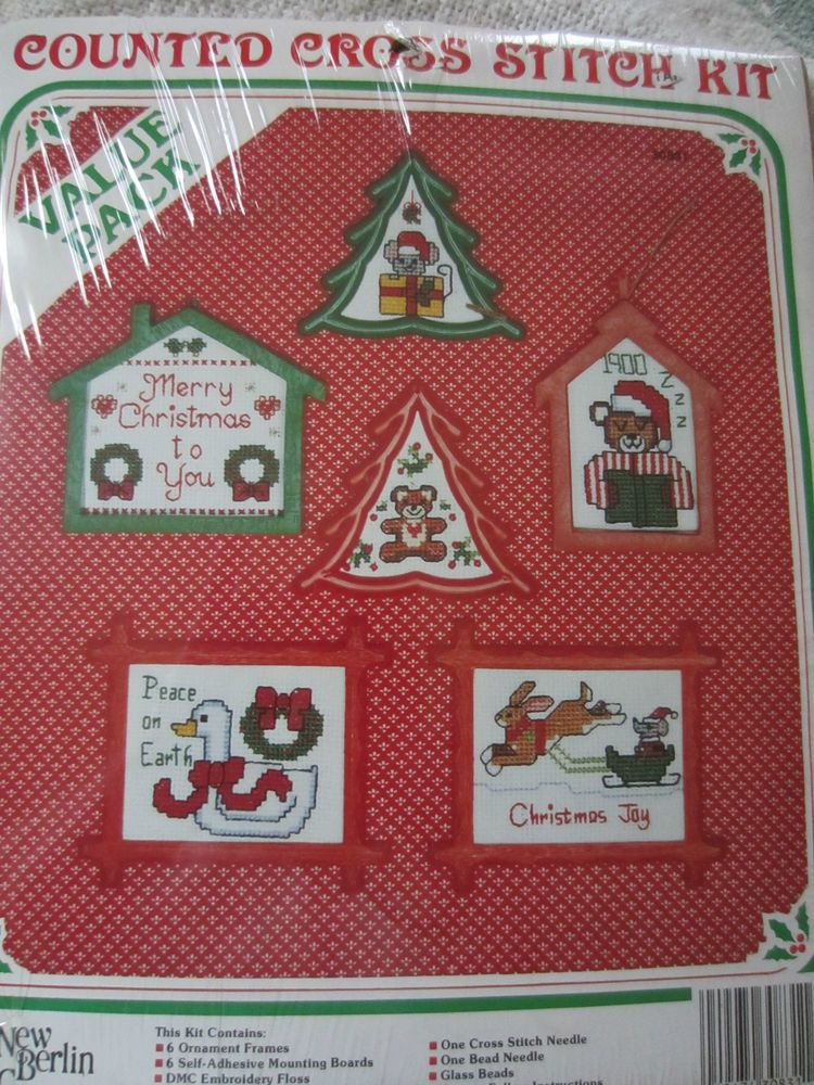 the new berlin co counted cross stitch ornaments kit.new ...
