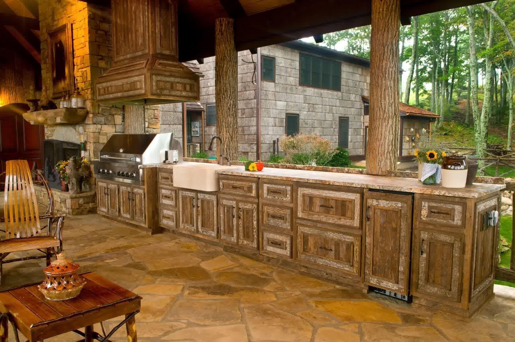 Kitchen Design 20 Rustic Outdoor Home Ideas Outdoor Kitchen Decor Backyard Kitchen Outdoor Kitchen Design