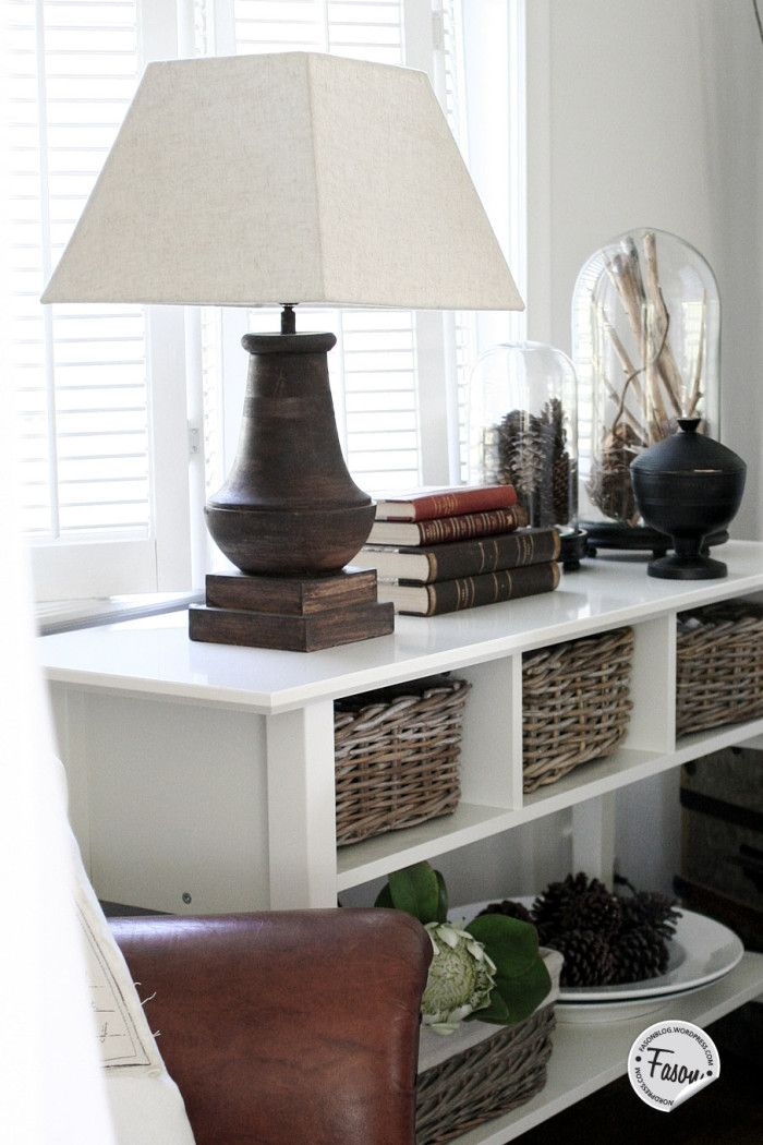 our home dining area rustic chic sideboard wicker house doctor domes vintage books our. Black Bedroom Furniture Sets. Home Design Ideas