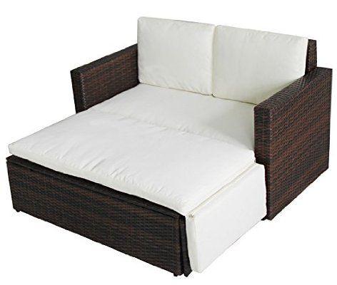 POLY RATTAN Lounge Gartenset BRAUN Sofa Garnitur Polyrattan - rattan gartenmobel braun