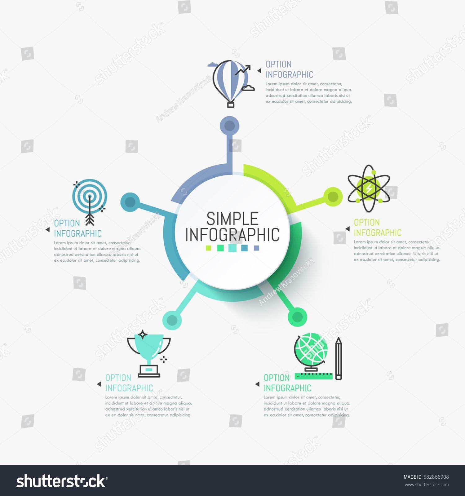 Minimalist infographic design layout. Round element in
