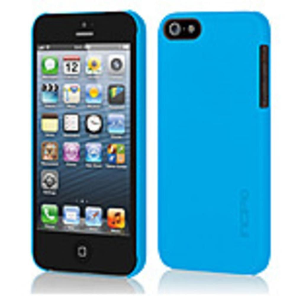 Incipio IPH-807 Feather Ultra Thin Snap-On Case for iPhone 5-5S - iPhone 5, iPhone 5S - Cyan Blue - Translucent - Polycarbonate, Plextonium
