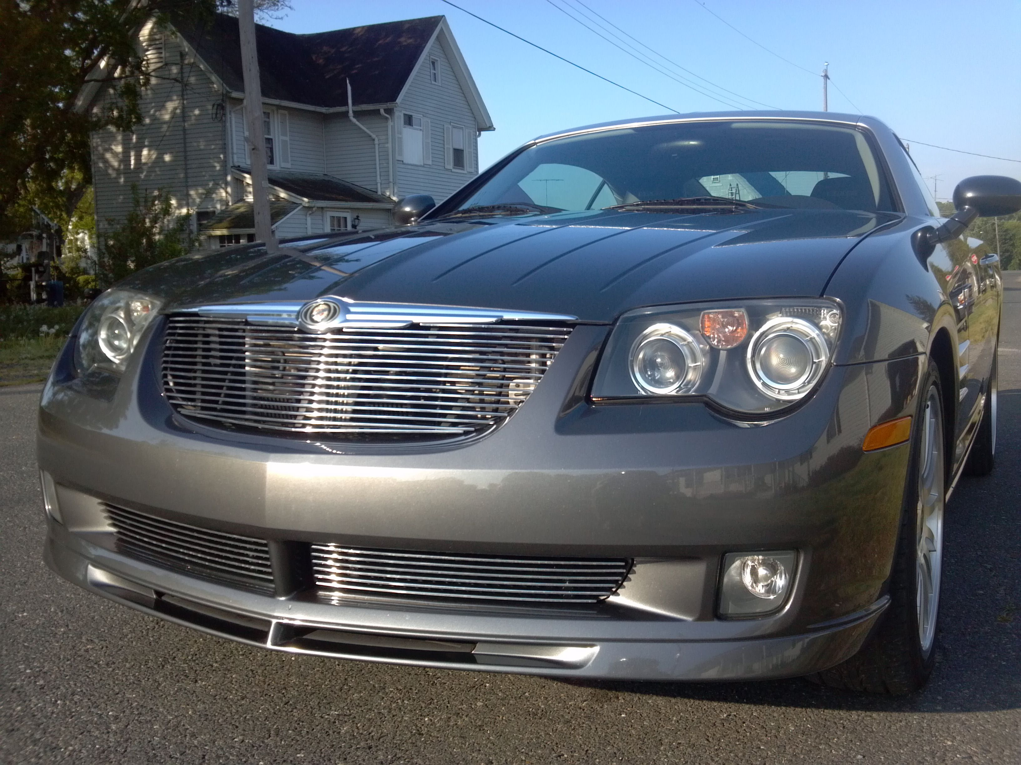 Chrysler Crossfire Srt6 With Billet Grille Polished By Genx Trims