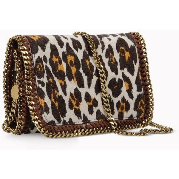 Stella Mccartney Falabella Leopard Print Cross Body Bag ($890) ❤ liked on Polyvore love love