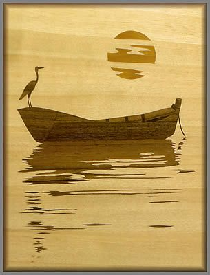 Dawn Fisherman #burnedwoodstenciling