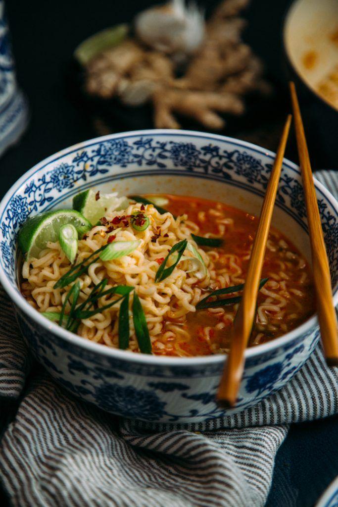 Tom Yum Ramen Noodle Soup Recipe Homemade ramen, Ramen