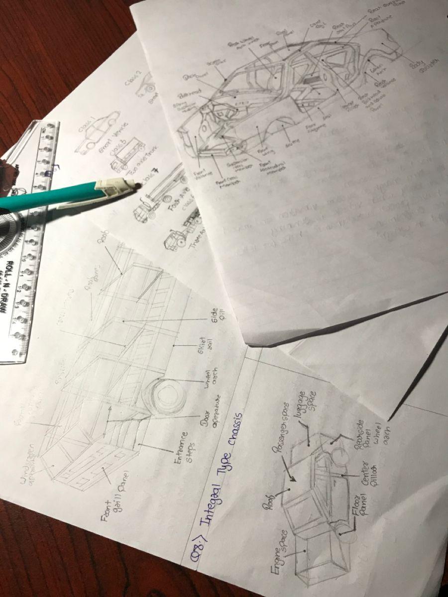 Doing Practice 😇 #automobile engineering