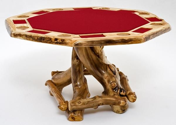 Log Game Table Rustic Card Table Custom Made Game Tables