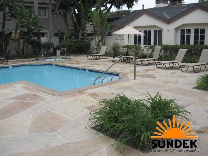 Sundek Offers Hand Crafted Custom Concrete Overlay