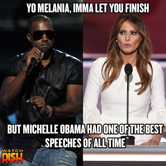 The Kanye West Taylor Swift Feud Has Even Infiltrated The Election Best Speeches Really Funny Michelle Obama