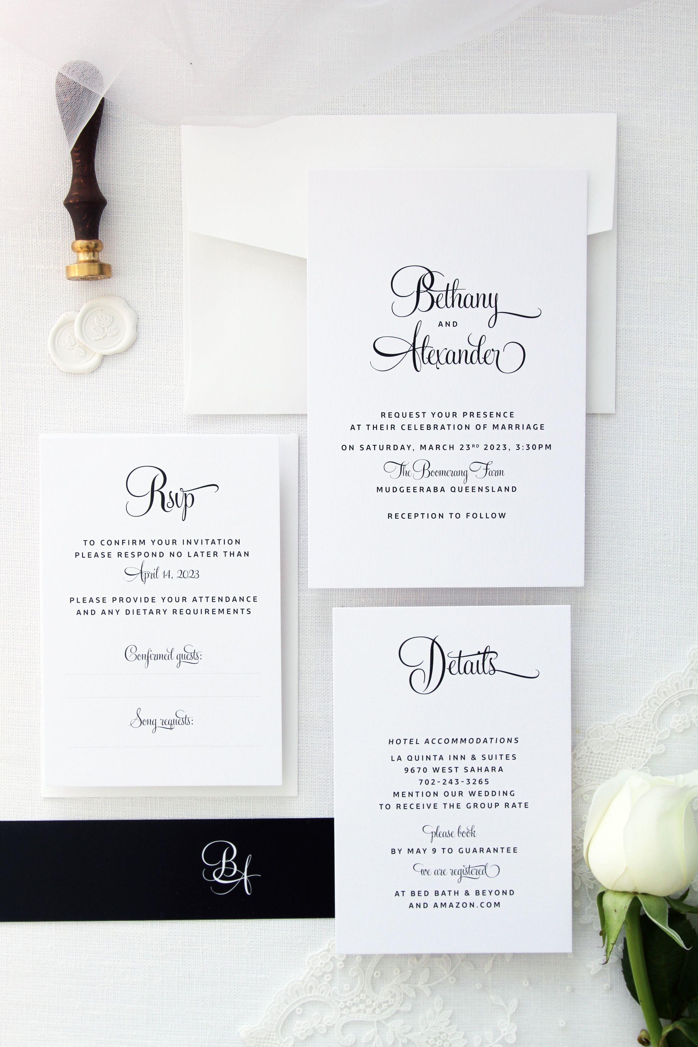 Elegant Wedding Invitation Wedding Invitations Elegant Formal Personalised Wedding Invitations Fun Wedding Invitations