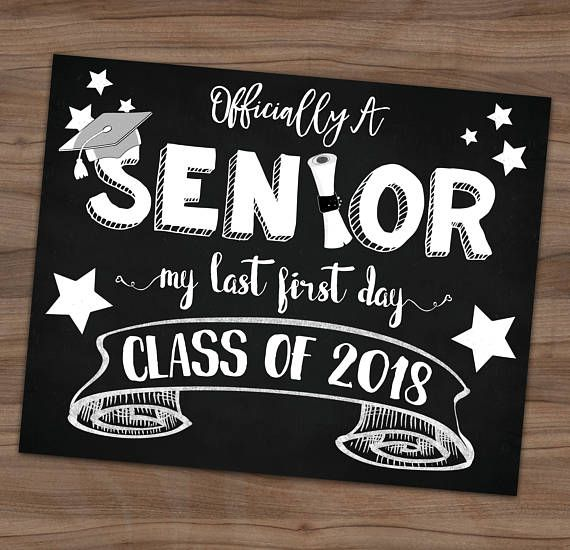 High School Back To School Sign -My Last First Day of Senior Year - first class degree