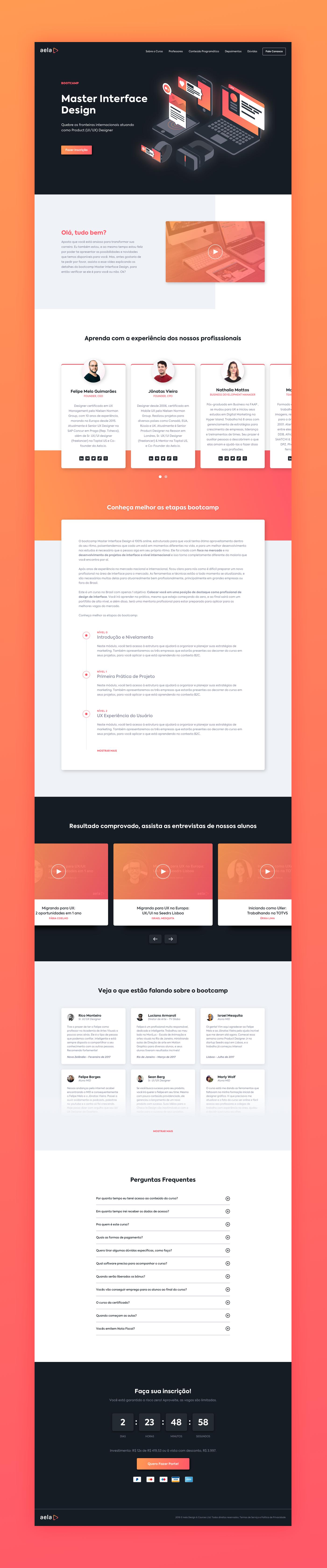 Aela S Master Interface Design Landing Page On Behance Interface Design Web App Design Web Design