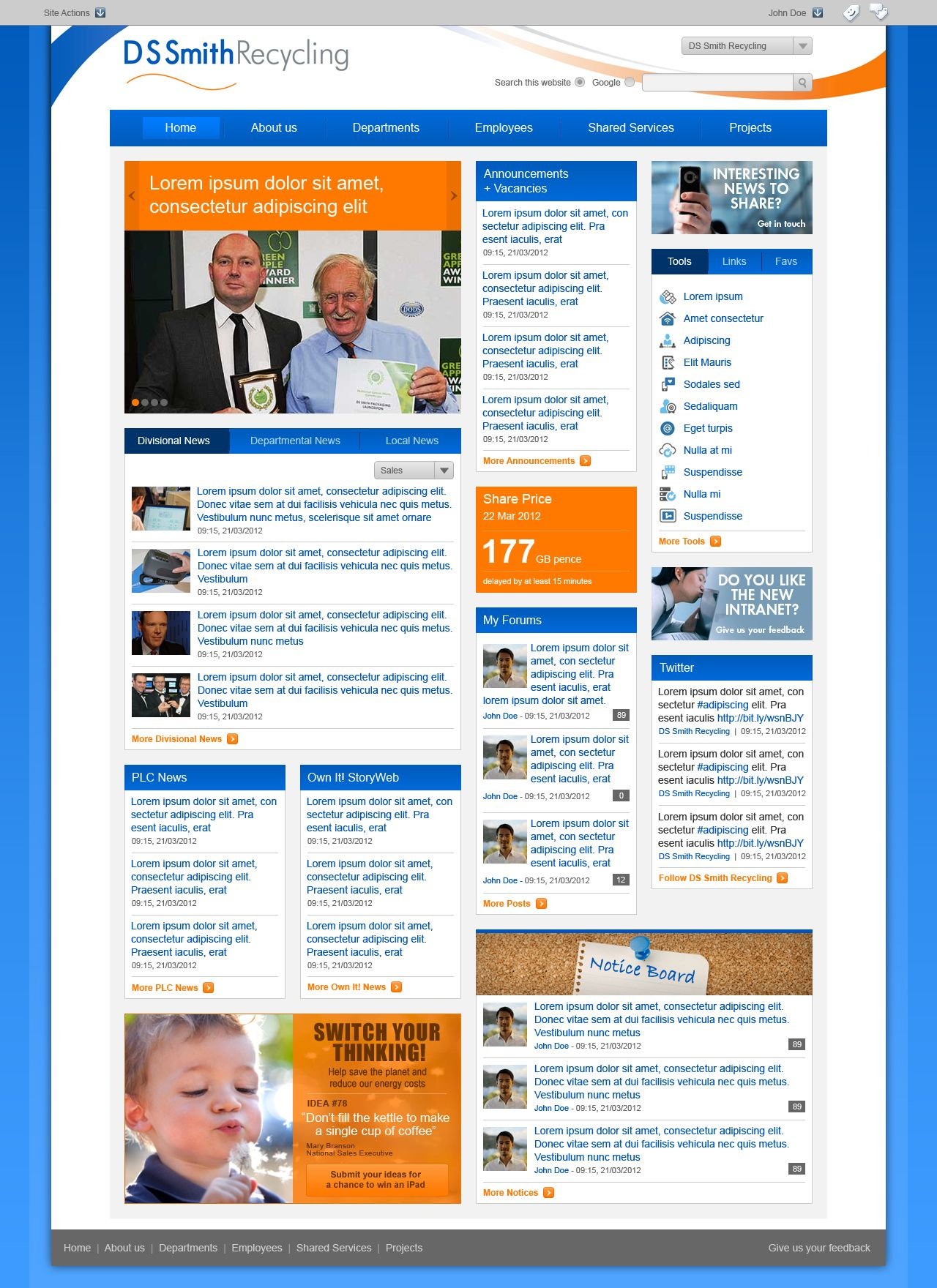Sharepoint site design ideas - Explore Sharepoint Intranet For D And More