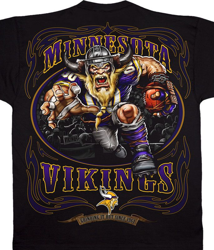 fe541566a1f MINNESOTA VIKINGS RUNNING BACK BLACK T-SHIRT