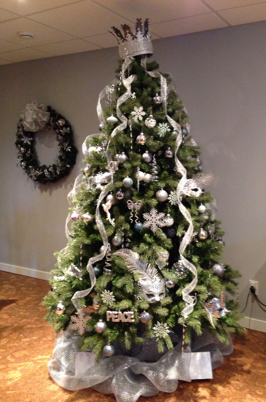 White Christmas Tree 2013 Crown Tree Topper Christmas Tree
