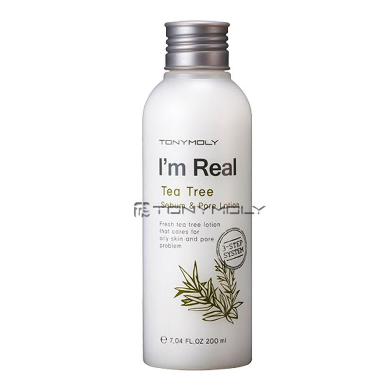 Tonymoly I M Real Tea Tree Sebum Pore Lotion 200ml Weight 254g Beautynetkorea Korean Cosmetic Skin Lotion Lotion Korean Cosmetics