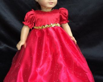 18 in. American Girl Doll soft pink lace dress von DollBabyDesigns1