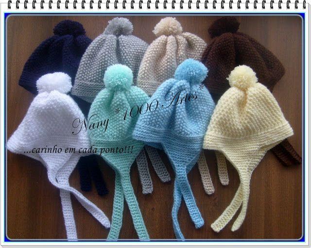 Touca em tricô com tapa orelhas (Receita de Tricô)  7a792f47b0a