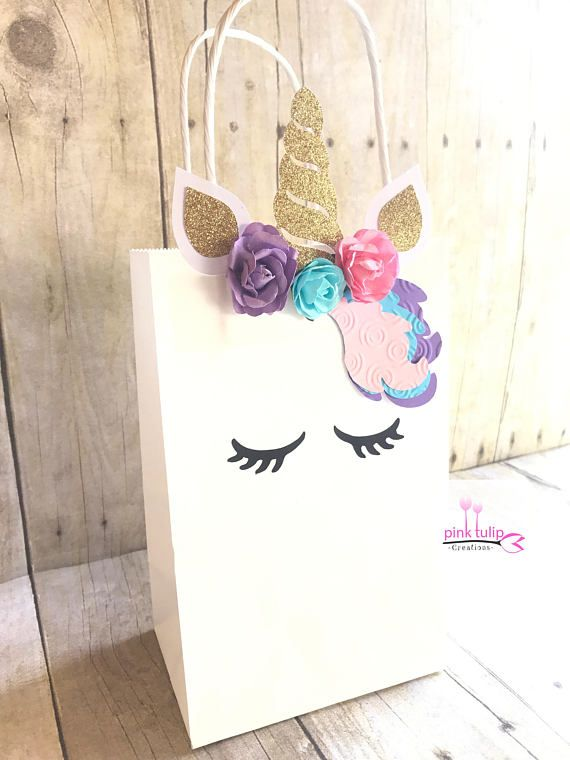 bc032ca68 Unicorn Goodie Bags, Unicorn Favor Bags, Unicorn Party, Party Favors ...