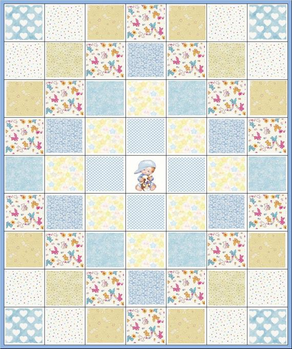 I Love You to the Moon and Back~Baby Boy Precut Quilt Kit