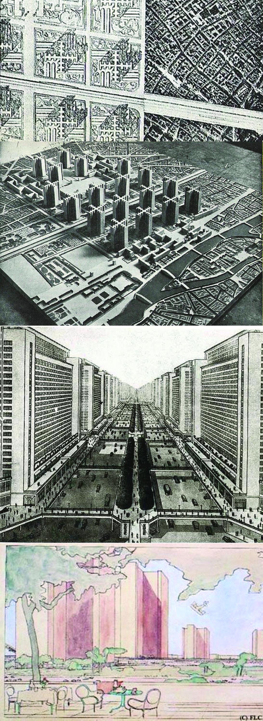 Le Corbusier, Plan Voisin, 1920 Paris.