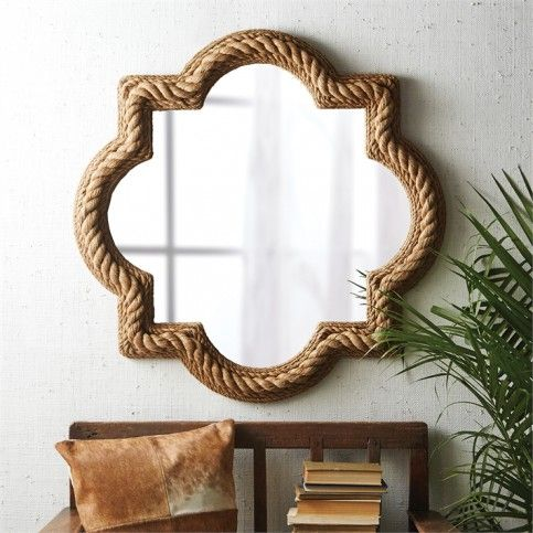 THE WELL APPOINTED HOUSE - Luxury Home Decor- Quatrefoil Rope Mirror