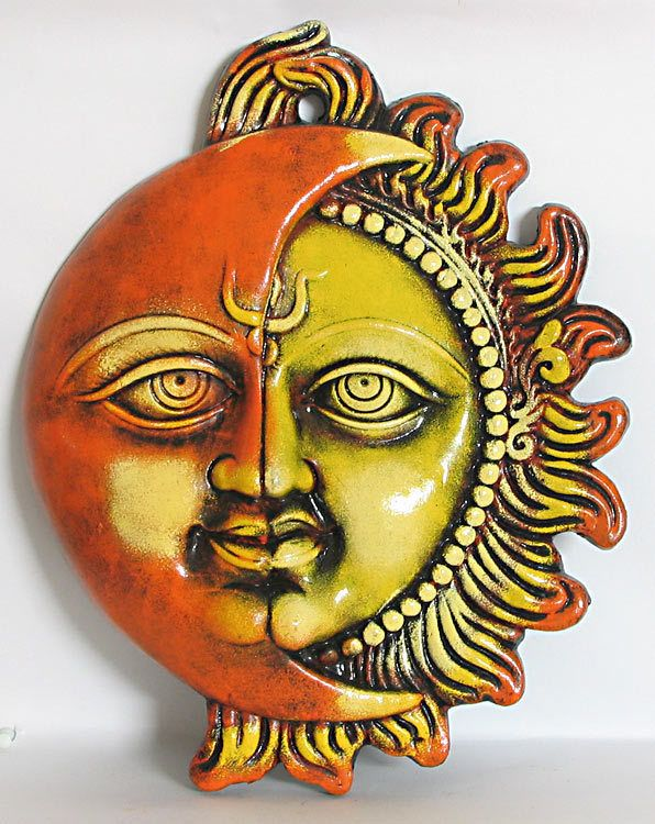 Sun and Moon -Wall Hanging | Terracotta, Moon and Ceramic wall art