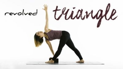 two common misalignments in revolved triangle  yoga